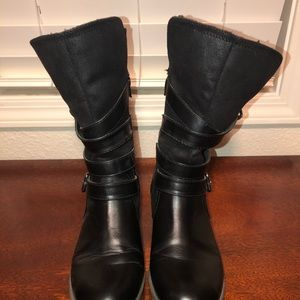 Report Shoes - Strappy mid calf black boots sz 8